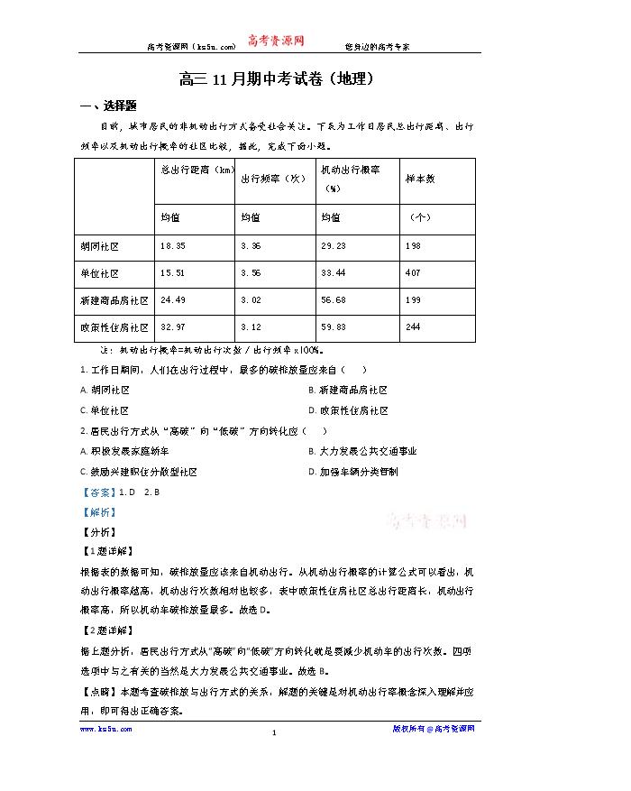 云南省临沧市沧源县民族中学2020-2021学年高二上学期期末考试地理试题 PDF版含答案